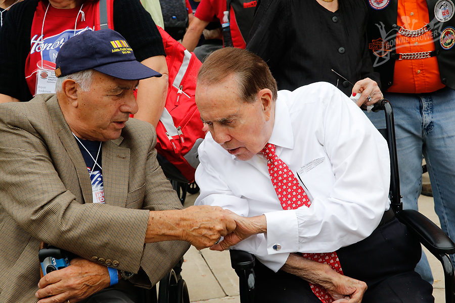 Bob Dole discussing mutual war experiences