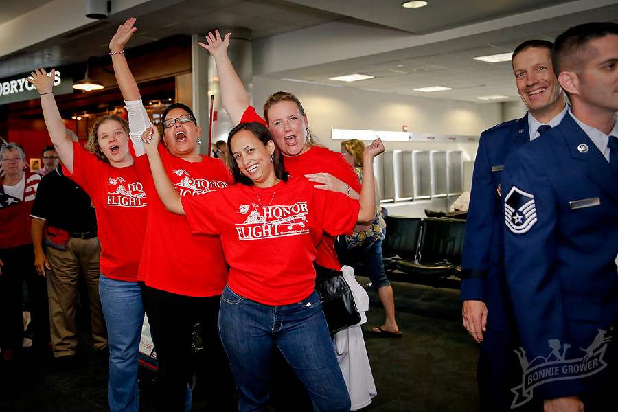 These dedicated ladies drive down from Long Island to BWI almost every weekend for the entire Honor Flight season